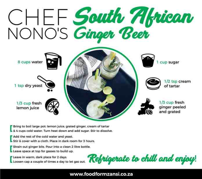 Chef Nono's South African Ginger Beer Recipe.