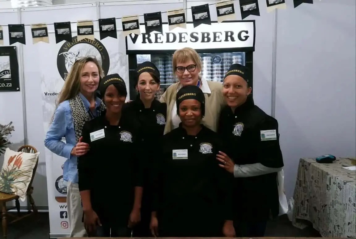 From left to right: Lizma van Zyl, Ruby-Ann Sampson, Karen van der Merwe, Geraldine Heugh, Zelda le Grange and Monica Banda at 2018 SA Cheese Festival.