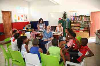 The 12 learners in the homework centre get individual attention with three highly equipped educators assisting them.