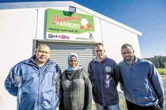 Pictured, Achmat Brinkhuis, Wadea Jappie and their two sons, Nabeel Brinkhuis and Tawfeeq Brinkhuis.