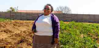 Nomxolisi Mathe holds a Masters' degree in education and was an English teacher for two decades before she started farming with eight other women in Benoni, about 40km east of Johannesburg.