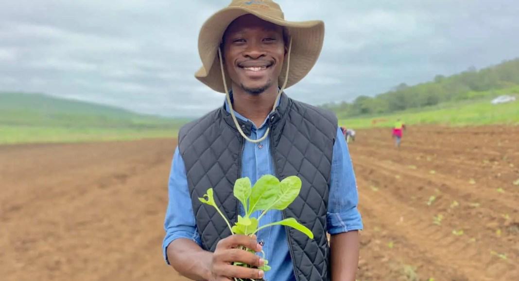 Andile Ngoco (26) manages the operations of Tusokuhle Farming in Pietermaritzburg.
