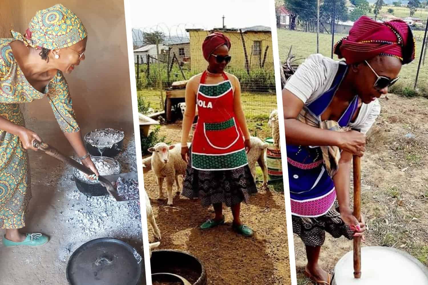Mfazana the Village Chef is passionate about food - from start to finish. As a livestock farmer, she works intimately with the animals she eats, and says that it's all about love.