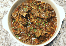 Boozy braised oxtail with a garlic mash is one of chef Patience Nyongane