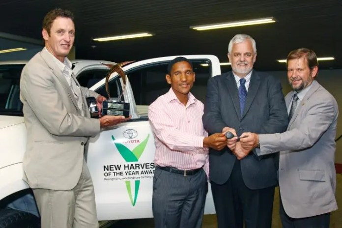In 2013, Warren Bam won the Toyota New Harvest of the Year competition as SA's Young Farmer.