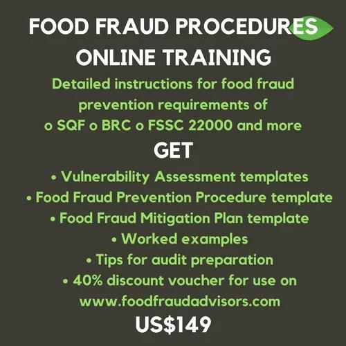 training course,food fraud,sqf edition8,fssc version 4.1,brc issue7