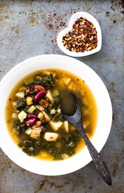 Instant Pot Kale and French Lentil Soup