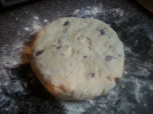 scone-dough-disk