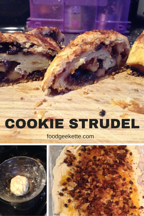Cookie Strudel - a simple, unsweetened dough and a traditional filling pinwheel into small cookies that aren't too sweet, and are crispy, flaky but still tender. Sophisticated and perfect for company.