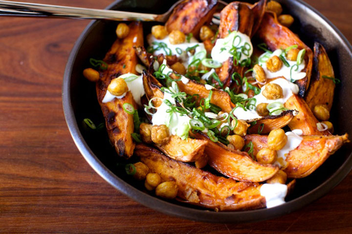 roasted-yams-and-chickpeas-with-yogurt