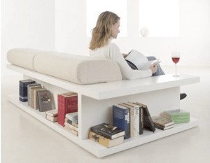 Sofa with Shelving - Furniture that does double duty