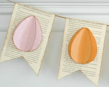 Easter Egg Banner - Easy Easter Decorating