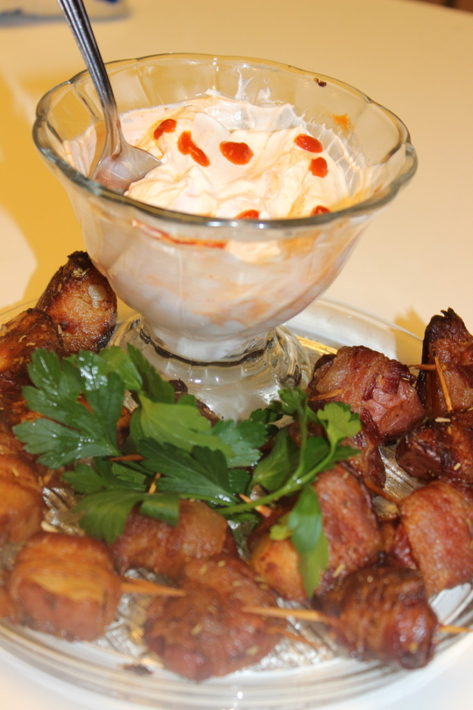 821-683x1024 Bacon Wrapped Potatoes with Sriracha Dip