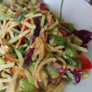 Asian Broccoli Slaw with Peanut Dressing