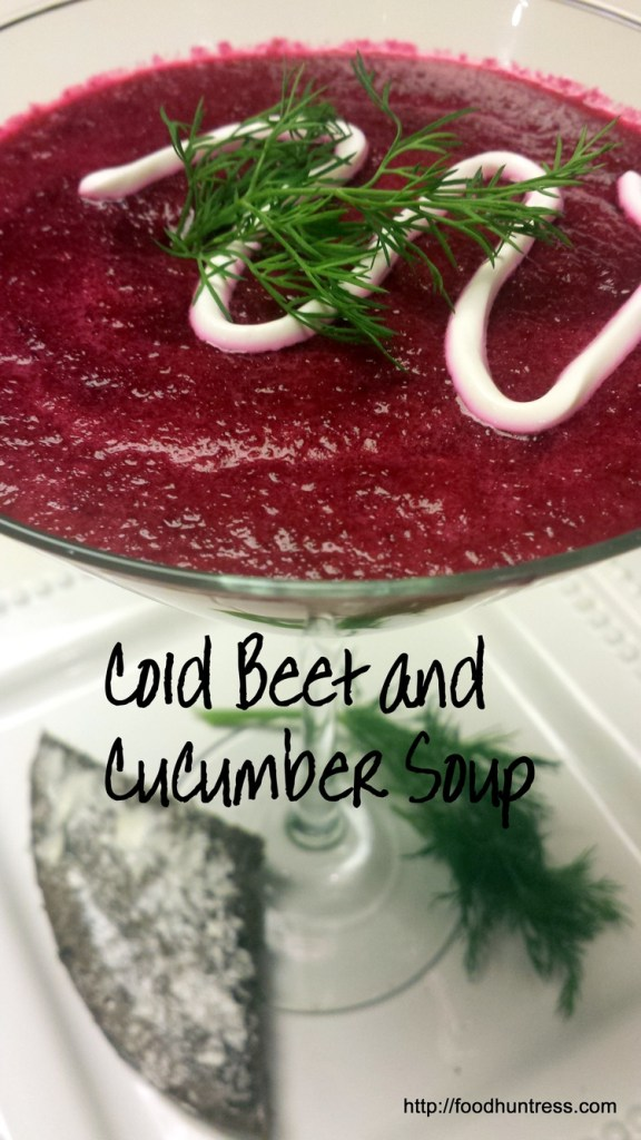 SOUP WITH BEETS AND CUCUMBERS