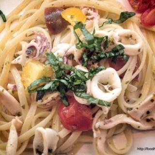 Linguine with Squid and Cilantro Basil Sauce