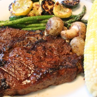 Grilled Steak with Sauteed Vegetables