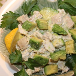 Avocado Chicken Salad Lighter Version