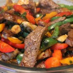 Steak with Asian Sauce and Peppers