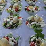 Make Your Own Greek Salad Bar At Home in Martini Glasses