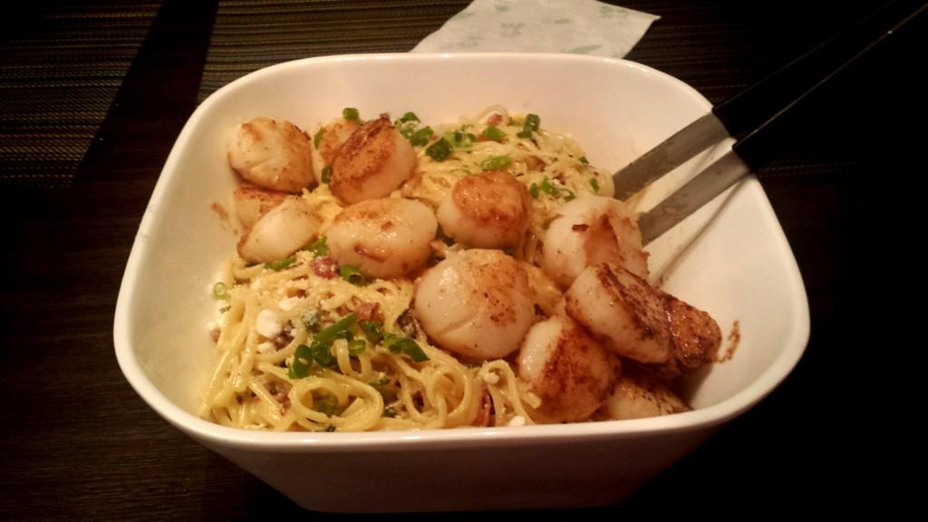 img-1024x576 Pasta Carbonara with Scallops