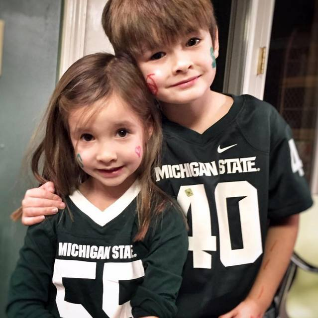 Grandkids on Game Day