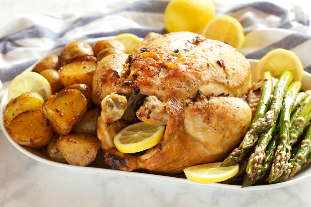 lemon-garlic-ginger-roast-chicken-2-1024x683 Lemon Garlic Ginger Roasted Chicken