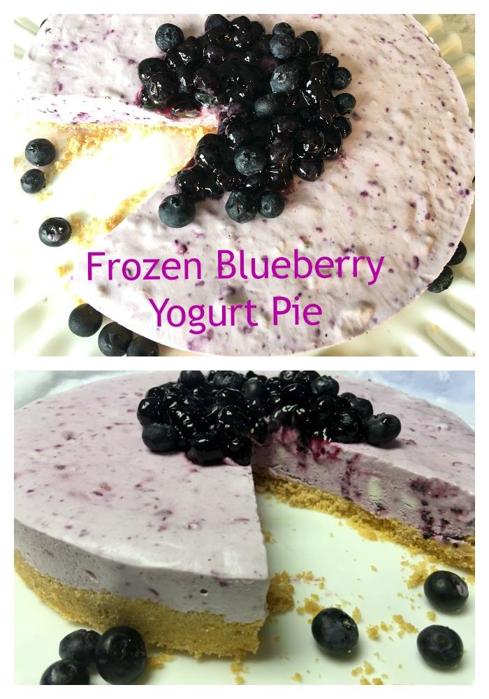Frozen-Blueberry-Yogurt-Pie Children Love Frozen Blueberry Yogurt Dessert