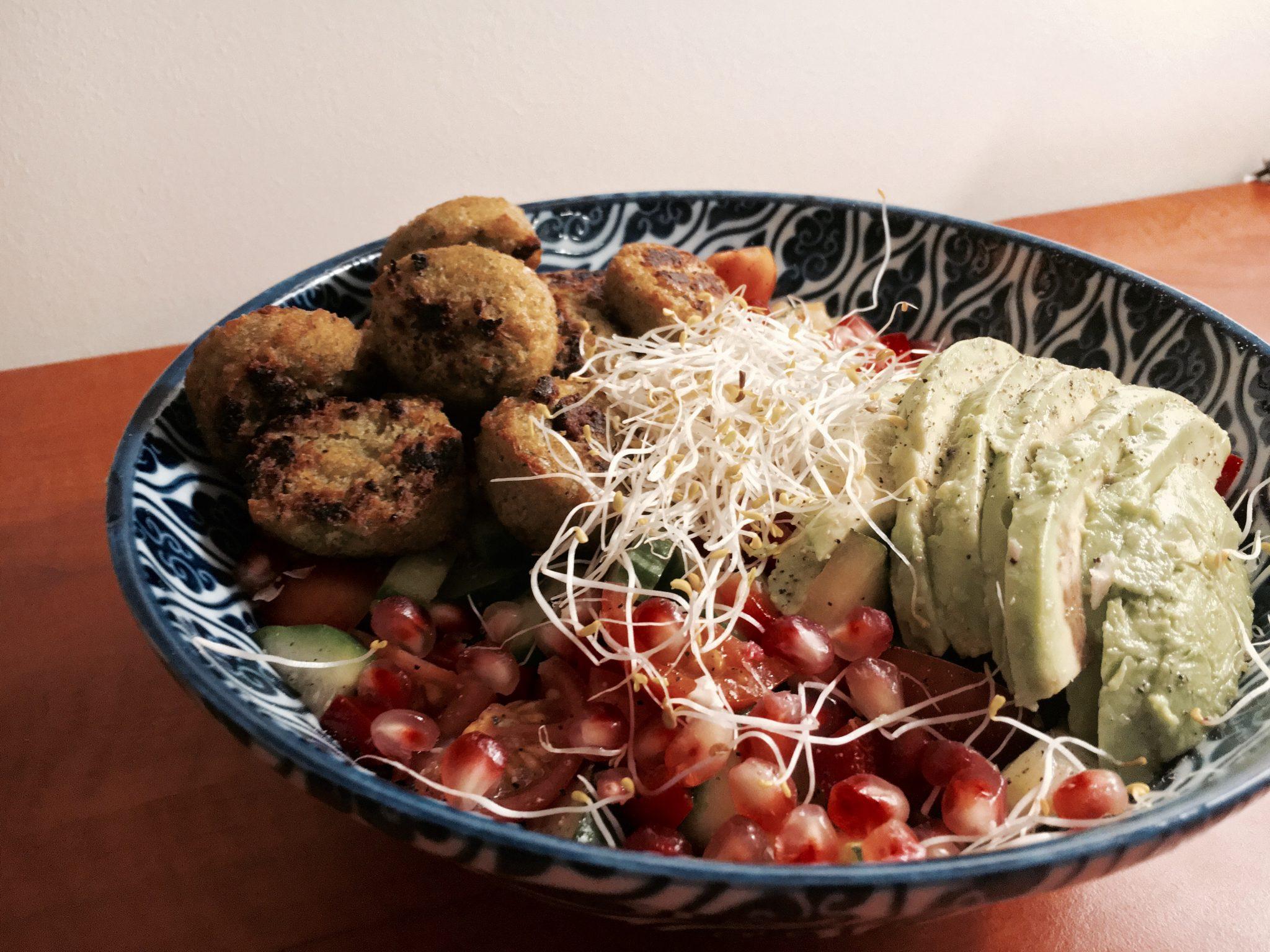 salade falafel couscous