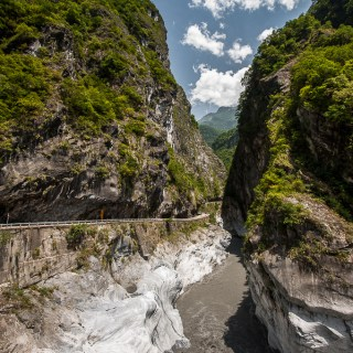 Carp Lake and Taroko National Park at Hualien, Taiwan
