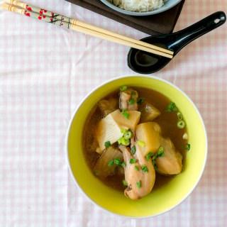 Japanese Chicken, Radish and Tofu Stew