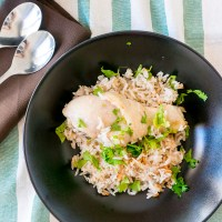One-Pot: Easy Rice Cooker Hainanese Chicken Rice