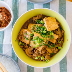 Quick Braised Tau Kwa (Firm Tofu) with Minced Pork