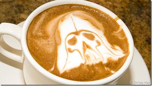 darth vader coffee art