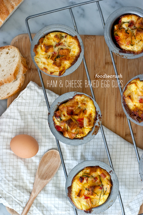 FoodieCrush Magazine Baked Ham and Cheese Egg Cups
