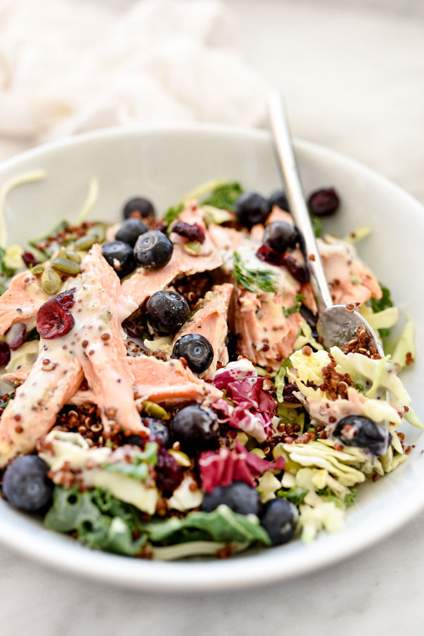 Superfood Salad with Poppy Seed Dressing   foodiecrush.com
