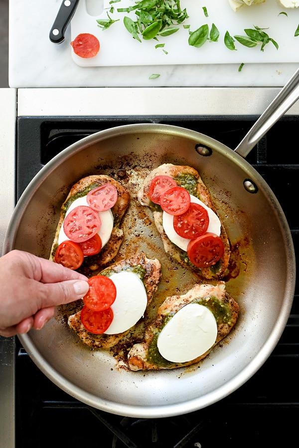 30-Minute Caprese Chicken Recipe | foodiecrush.com