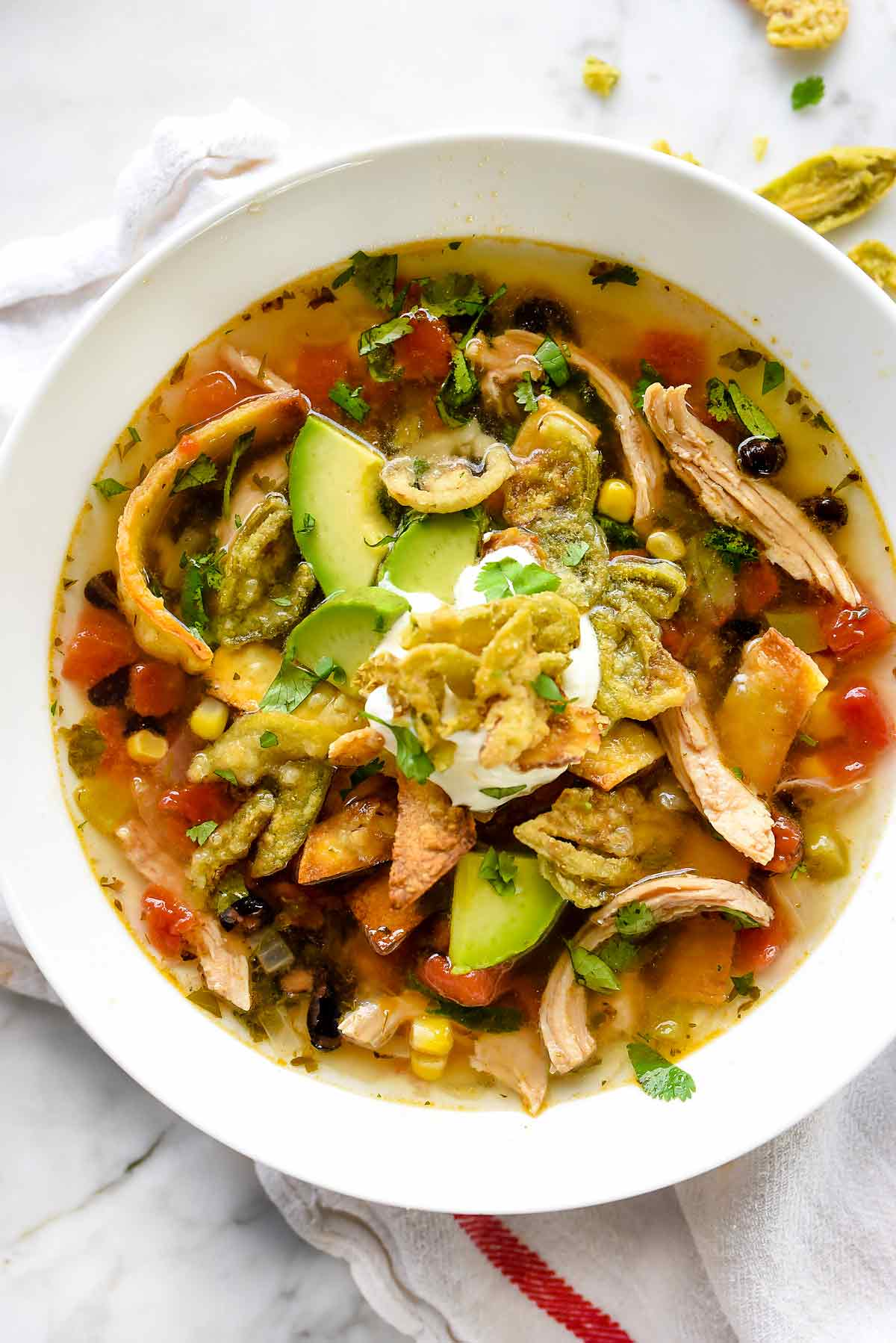 Chicken Tortilla Soup Recipe Foodiecrush Com