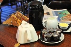 Sun Inn breakfast coffee