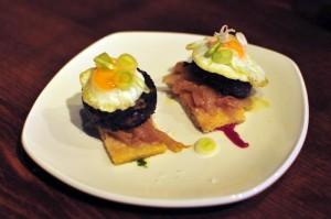 Fino Black Pudding & Quails egg