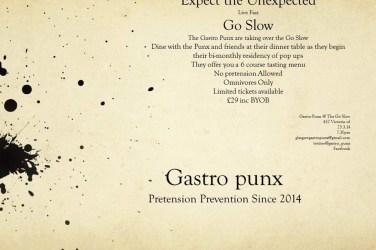 Gastric punx food drink Glasgow