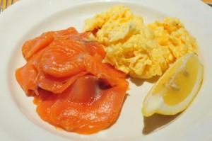 Carfraemill breakfast salmon with scrambled eggs