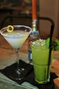 Sherbet-lemon & Sunshine on Leith cocktails