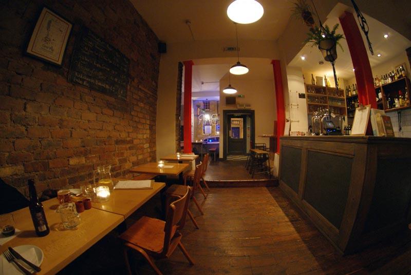 Blackfriars Bar - stripped back interior