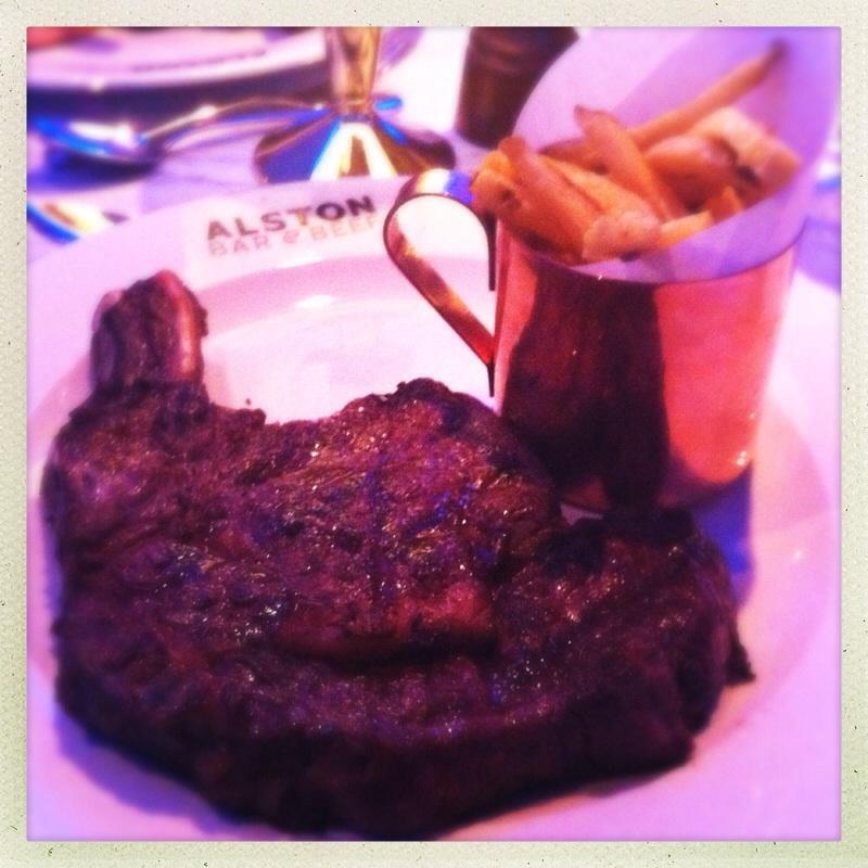 Beef rib Alston Bar & Beef Glasgow Central railway train station gin steak beer food blog foodie bloggers