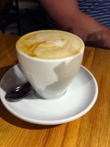 Soy cap cappuccino Giraffe restaurant review silverburn tesco Glasgow food drink blog