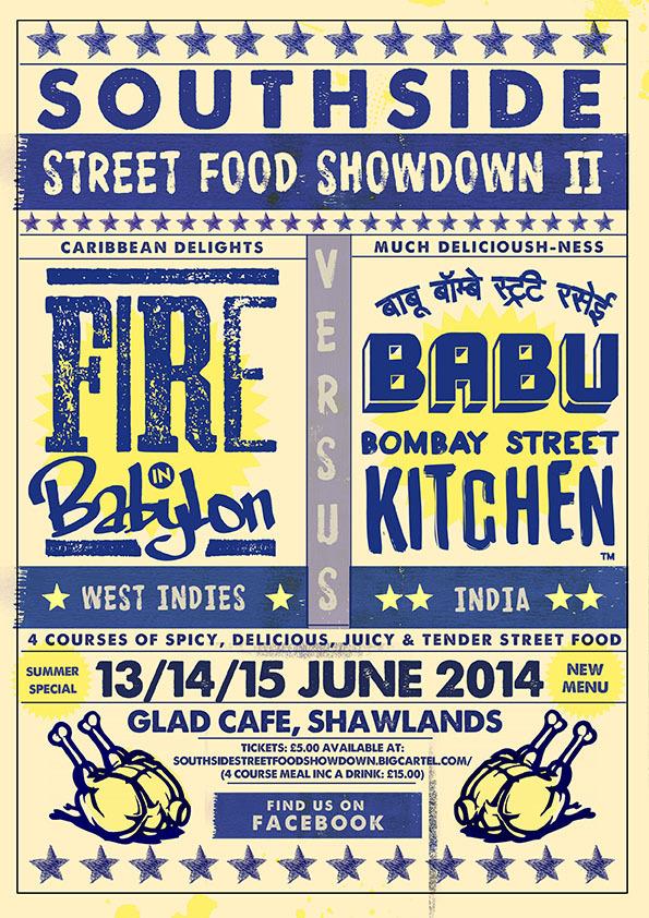 southside street food showdown glad cafe shawlands glasgow babu bombay kitchen fire in babylon