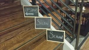Scran salon Glasgow food and drink Glasgow blog signs
