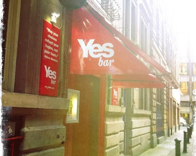 Review : Yes Bar (Vespbar), Address: 14 Drury Street Glasgow, G2 5AA