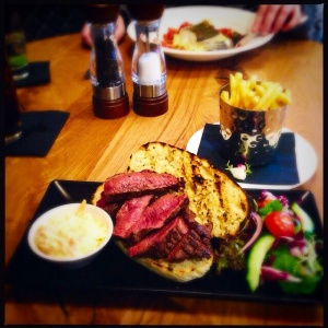 Steak sandwich Loks bar and kitchen Newlands Shawlands Glasgow